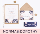 norma & dorothy: Rustic Wedding Stationery